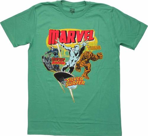 Marvel Ghost Rider Surfer Thing Vintage T Shirt