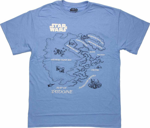 Star Wars Tatooine Map T Shirt