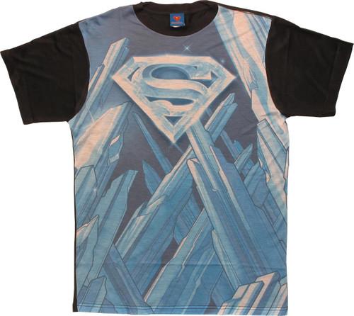 Superman Solitude Logo Sublimated T Shirt Sheer