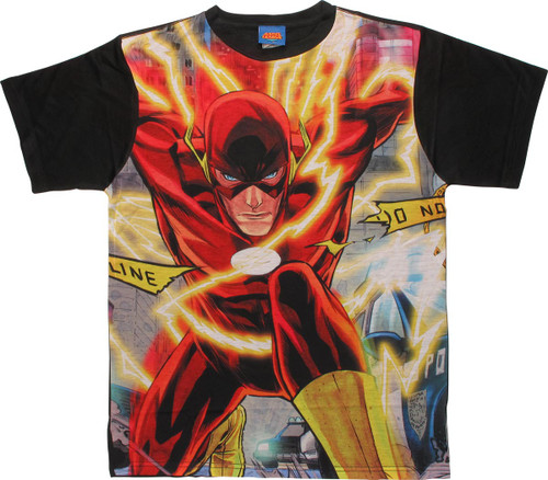 Flash Police Line Sublimated T Shirt Sheer