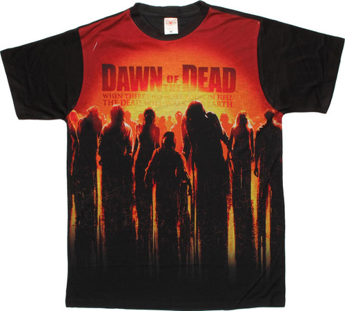Dawn of the Dead Sun Poster Sublimated T Shirt Sheer