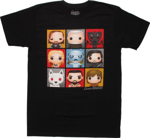 Game of Thrones Funko Toy Grid T Shirt Sheer