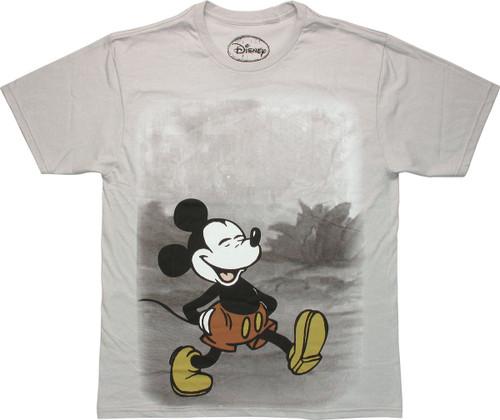 Mickey Mouse Trail Walk T Shirt Sheer