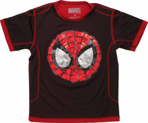 Spiderman Gemstone Face Mesh Youth T Shirt