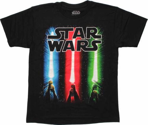 Star Wars Lightsaber Trio Youth T Shirt