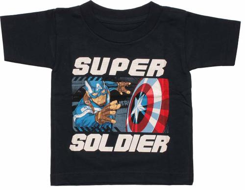 Captain America Super Soldier Toddler T Shirt