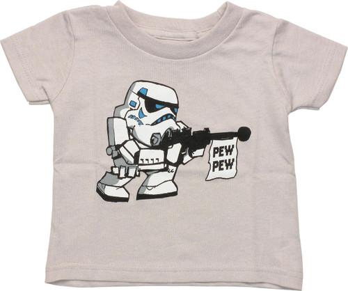 Star Wars Trooper Pew Pew Gray Infant T Shirt
