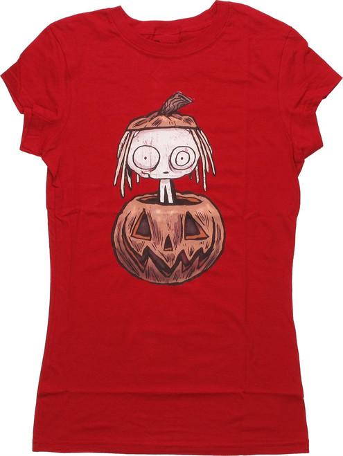 Lenore Pumpkin Red Baby Tee