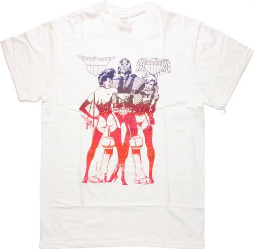 Judge Dredd American Flagg Mashup T Shirt