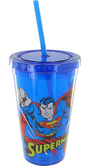 Superman Flying Blue Travel Cup
