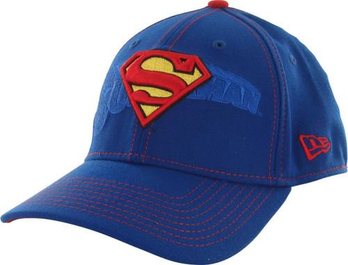 Superman Logo Stack 39THIRTY Hat