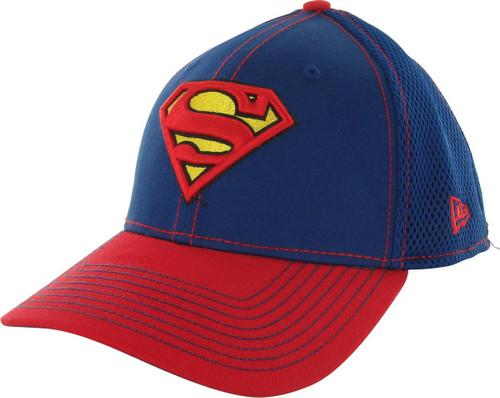 Superman Logo 2 Tone Mesh Back 39THIRTY Hat