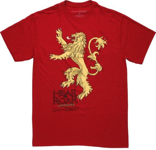 Game of Thrones Hear Me Roar Bold T Shirt