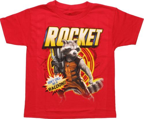 Guardians of the Galaxy Rocket Juvenile T Shirt
