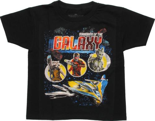 Guardians of the Galaxy Trio Ship Juvenile T Shirt