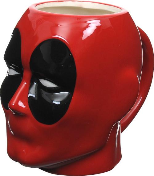 Deadpool Head Sculpted Mug