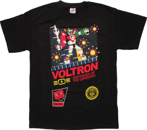 Voltron Retro Game Art T Shirt