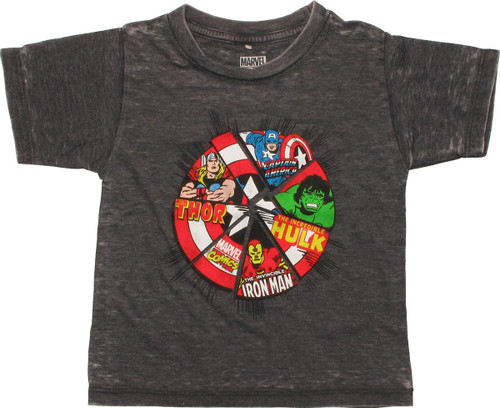 Avengers Wedged Shield Burnout Toddler T Shirt