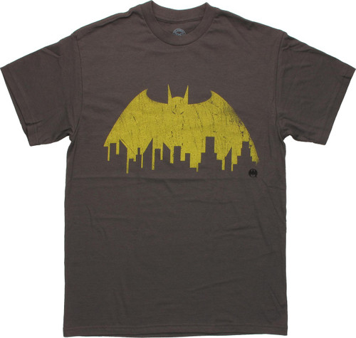 Batman Skyline Logo T Shirt