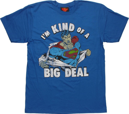 Superman Big Deal T Shirt Sheer