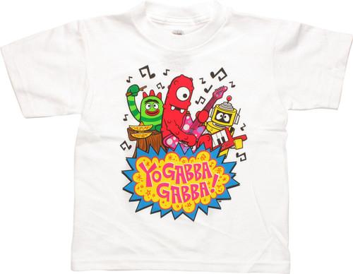 Yo Gabba Gabba Rockin Trio Toddler T Shirt