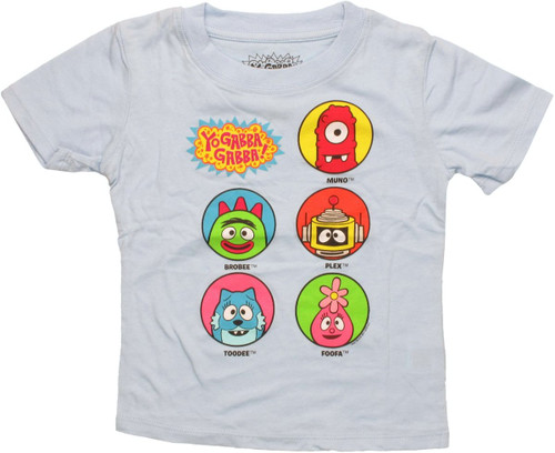 Yo Gabba Gabba Named Circles Toddler T Shirt