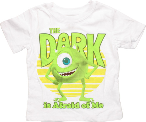 33a347bf Monsters Inc Mike Dark Afraid of Me Toddler T Shirt