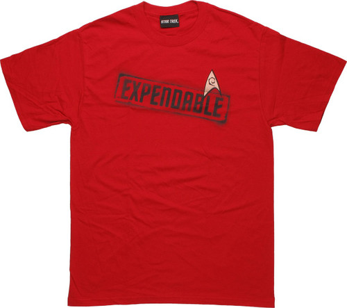 Star Trek Expendable Red T Shirt