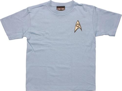 Star Trek Science Blue Juvenile T Shirt