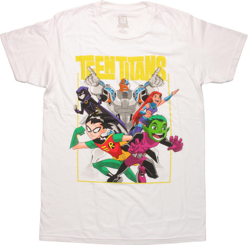 Teen Titans Animated Group T Shirt Sheer