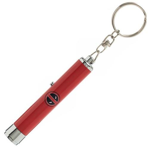 Deadpool Logo Flashlight Keychain