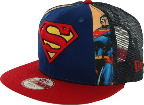 Superman Dye Slice Mesh 9FIFTY Hat