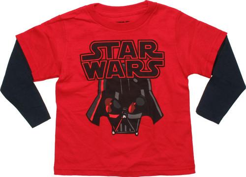 Star Wars Vader Helmet Long Sleeve Toddler T Shirt
