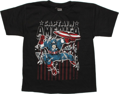 8f44ea643ed Captain America Shatter Youth T Shirt youth-t-shirt-captain-america-shatter- rwb
