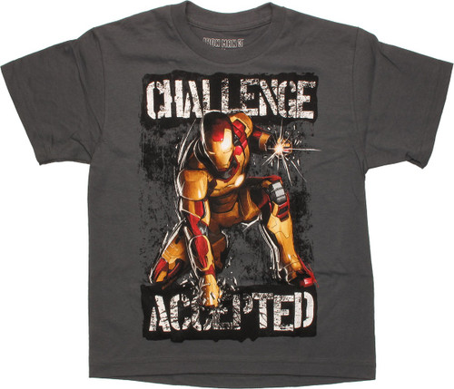 Iron Man Challenge Accepted Youth T Shirt