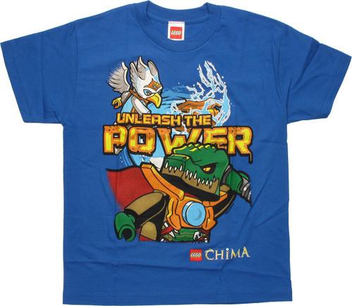 Lego Chima Unleash Power Blue Youth T Shirt
