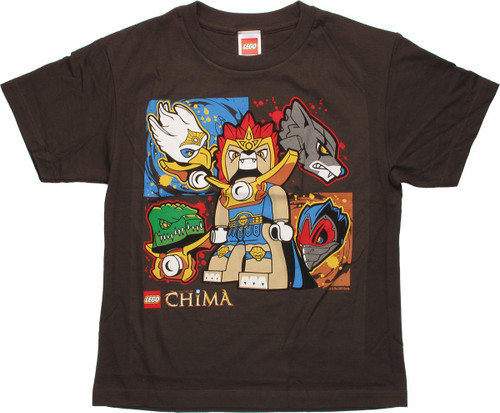 Lego Chima Five Tribe Brown Youth T Shirt