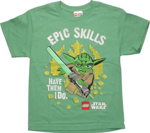 Star Wars Lego Yoda Epic Skills Youth T Shirt