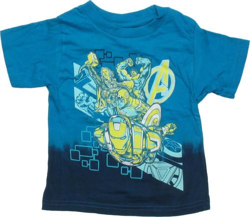 Avengers Team Blue Dip Infant T Shirt