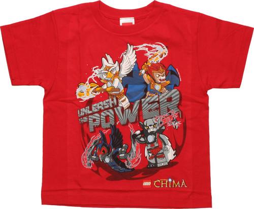 Lego Chima Unleash Power Red Juvenile T Shirt