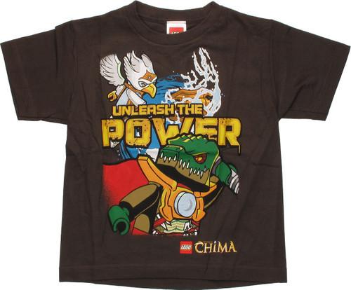 Lego Chima Unleash Power Brown Juvenile T Shirt