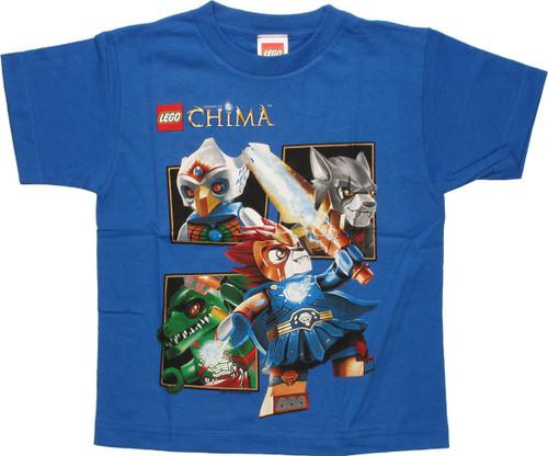 Lego Chima Group Box Blue Juvenile T Shirt