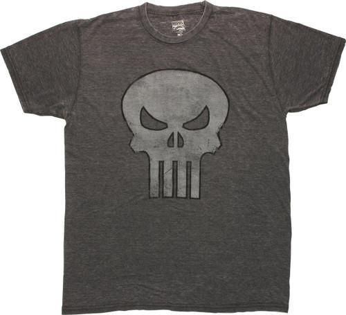 Punisher Vintage Skull Burnout T Shirt Sheer