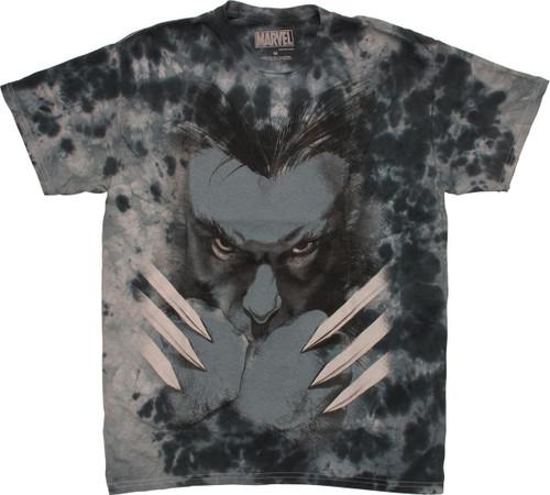 X Men Wolverine Fists Tie Dye T Shirt