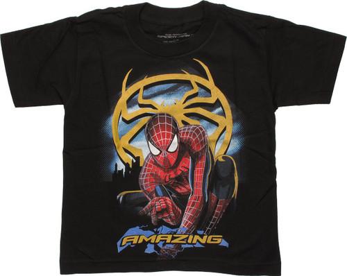 Spiderman Amazing Gold Spider Juvenile T Shirt