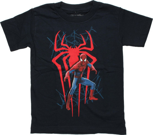 Spiderman Amazing Red Spider Juvenile T Shirt