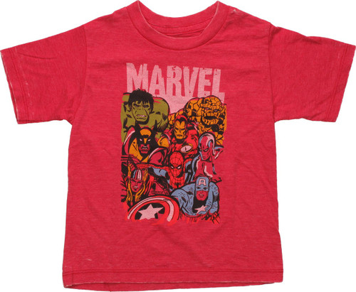Marvel Hero Stack Burnout Toddler T Shirt