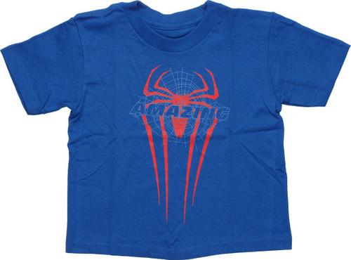 Spiderman Amazing Web Logo Toddler T Shirt