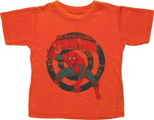 Spiderman Amazing Rings Burnout Toddler T Shirt