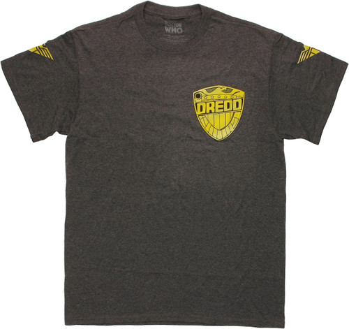 Judge Dredd Badge Charcoal Heather T Shirt
